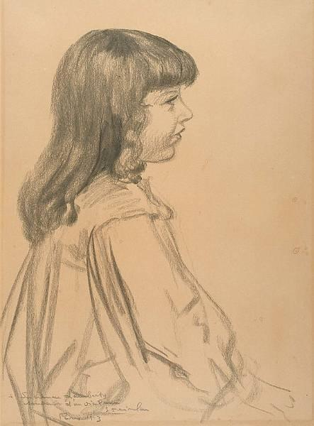 Young girl - Theophile Steinlen