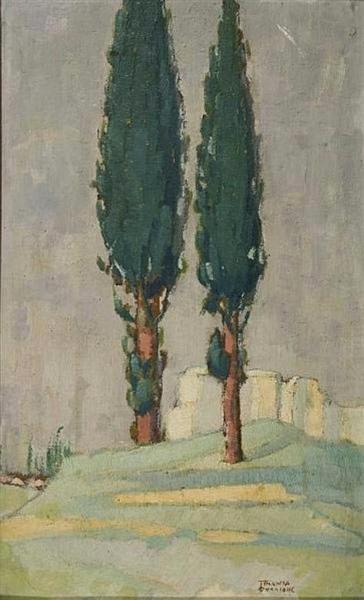 Cypresses - Triantafyllidis Theophrastos