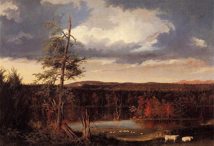 Landscape, the Seat of Mr Featherstonhaugh in the Distance, 1826 - Thomas Cole