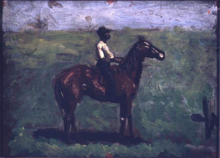Negro boy on a bay horse - Thomas Eakins