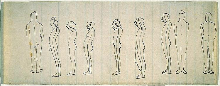 Nine studies of a figure - Томас Икинс