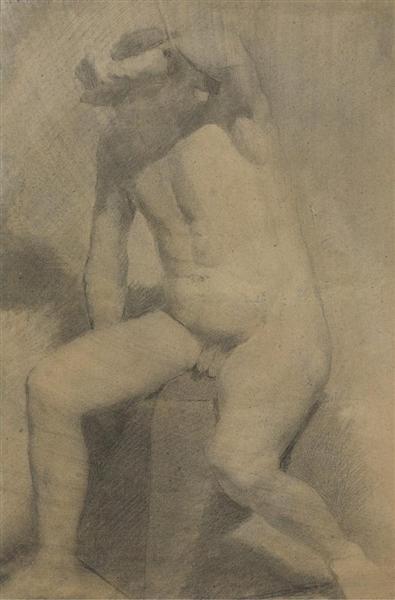 Nude Man Seated - Thomas Eakins