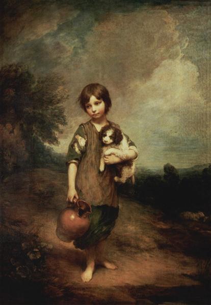 A peasant girl with dog and jug, 1785 - Thomas Gainsborough