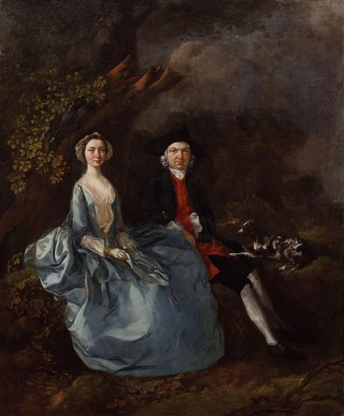 Portrait of Sarah Kirby (née Bull) and John Joshua Kirby, c.1751 - c.1752 - Thomas Gainsborough