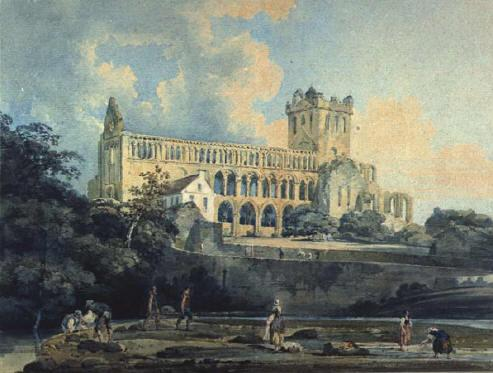 Jedburgh Abbey from the River, 1798 - Thomas Girtin