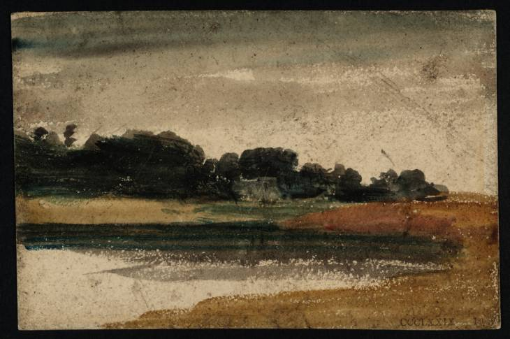 Trees near a Lake or River at Twilight, 1797 - Thomas Girtin