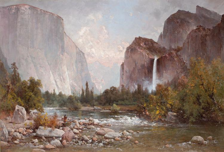 Fishing in the Yosemite Valley, 1891 - Thomas Hill