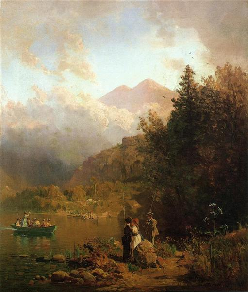Fishing Party in the Mountains, 1872 - Thomas Hill