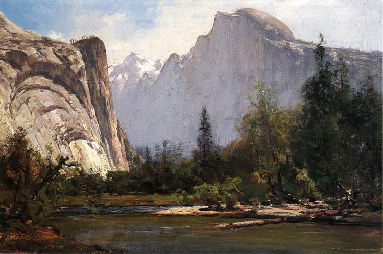 Royal Arches and Half Dome, Yosemite - Thomas Hill