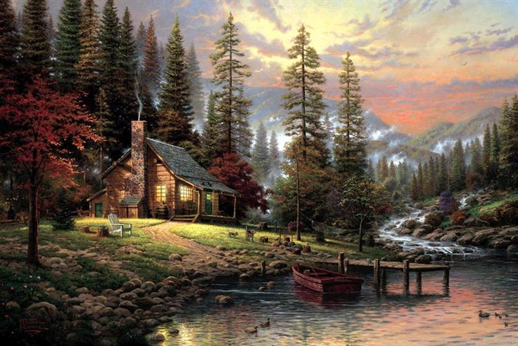 A Peaceful Retreat, 2002 - Thomas Kinkade