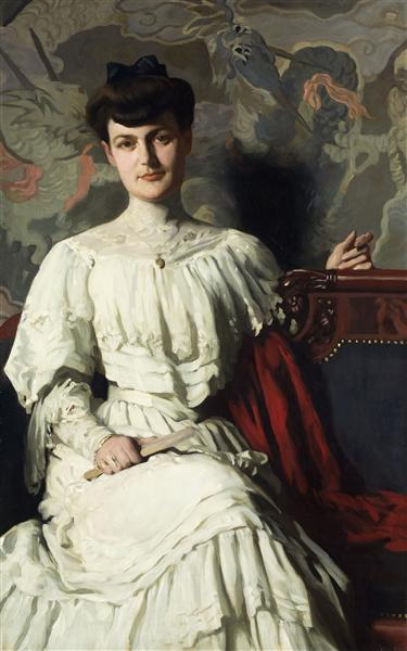 Portrait of Marthe Hientz, 1906 - Томас Поллок Аншутц