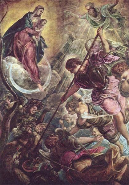Battle of the Archangel Michael and the Satan - Тінторетто