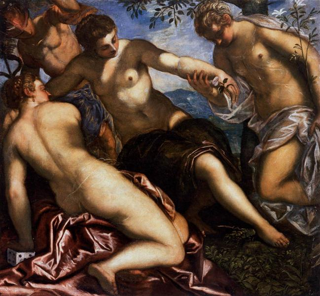Mercury and the Graces, 1576 - 1577 - Tintoretto