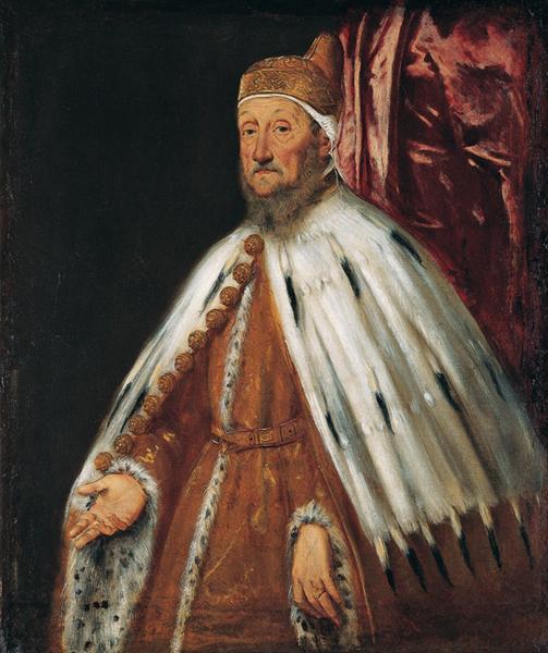 Portrait of Doge Pietro Loredan, 1567 - 1570 - Tintoretto