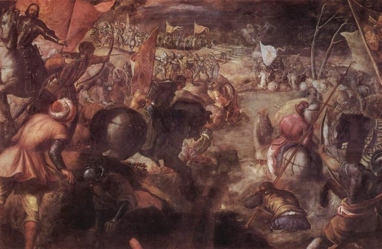 The battle of the Taro, 1578 - 1579 - Tintoretto