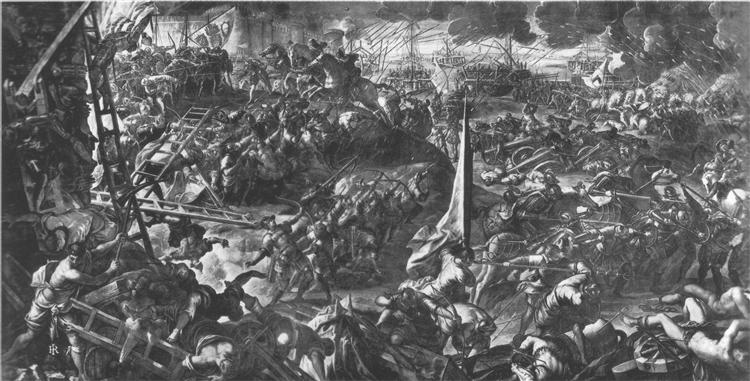 The Battle of Zara - Tintoretto