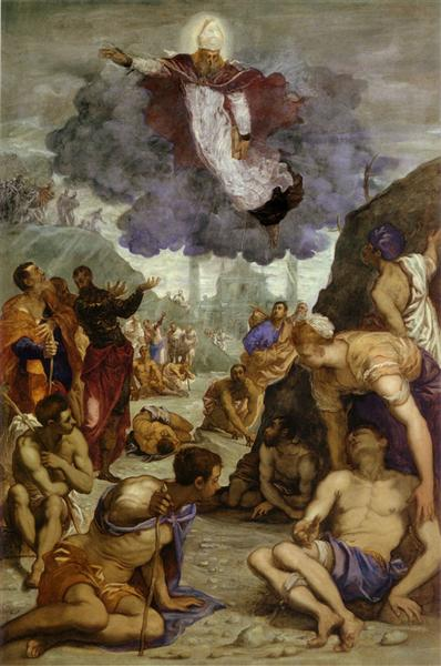 The Miracle of St Augustine, c.1550 - Tintoretto