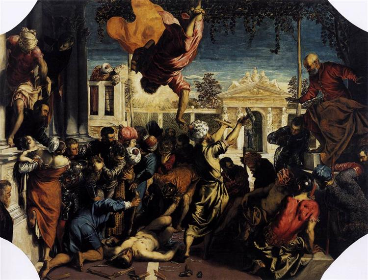 The Miracle of St Mark Freeing the Slave, 1548 - Тінторетто