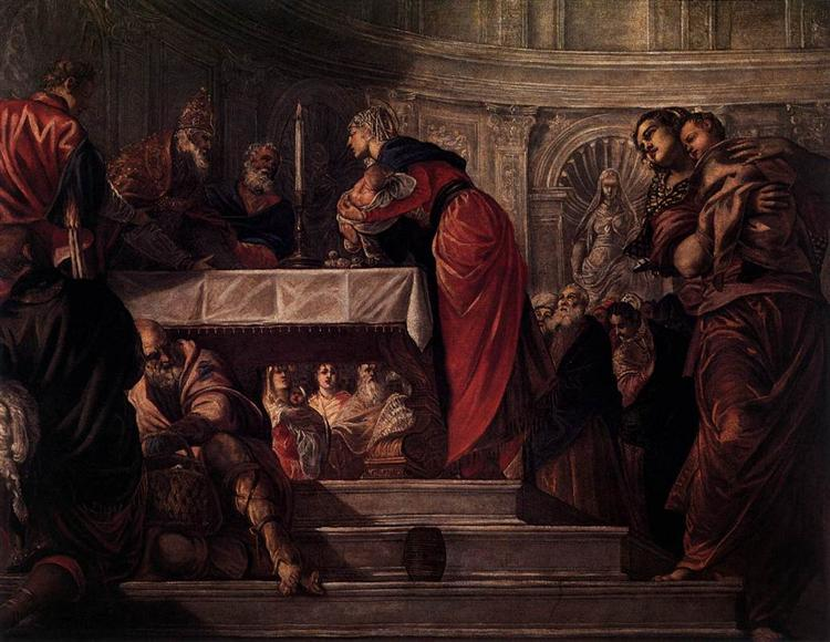 The Presentation of Christ in the Temple, 1550 - 1555 - Tintoretto
