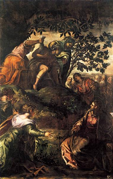 The Raising of Lazarus, 1579 - 1581 - Тінторетто