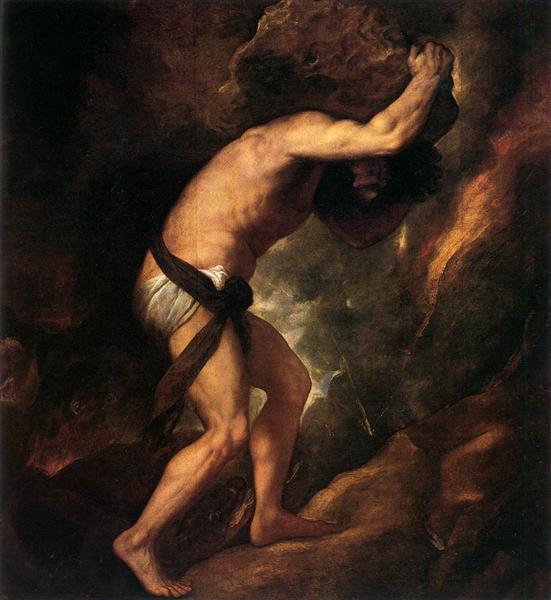 Sisyphus, 1548 - 1549 - Ticiano Vecellio