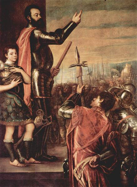 The Marchese del Vasto Addressing his Troops - Titian