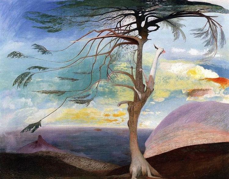 The Lonely Cedar - Tivadar Kosztka Csontvary