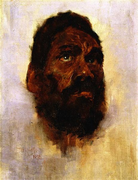 Aboriginal Head - Charlie Turner, 1892 - Tom Roberts