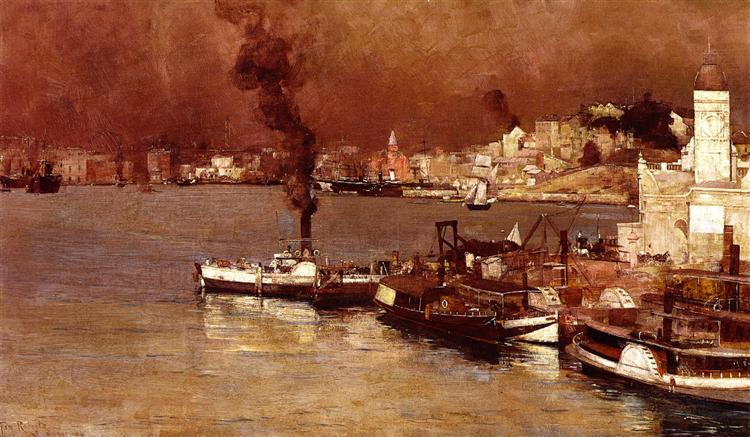 An Autumn Morning, Milson's Point, Sydney, 1888 - Tom Roberts