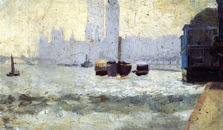 Thames Scene, 1884 - Tom Roberts