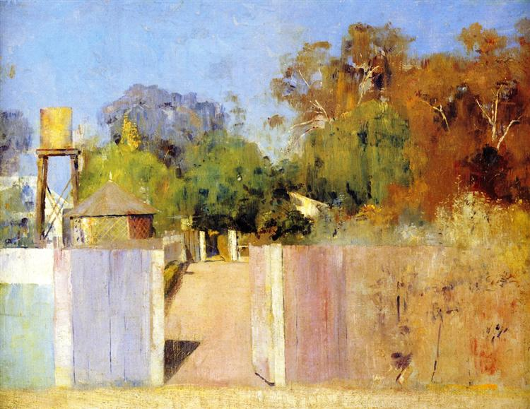 The Old Barracks at Collendina, 1891 - Tom Roberts