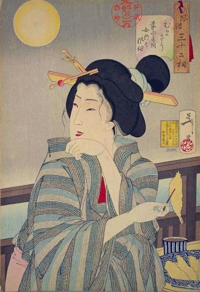 Looking tasty - The appearance of a courtesan during the Kaei era, 1888 - Tsukioka Yoshitoshi