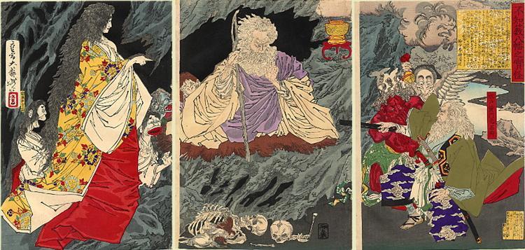 The Ghost Triptych - Tsukioka Yoshitoshi