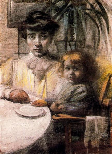 Mother and Child, 1906 - Umberto Boccioni