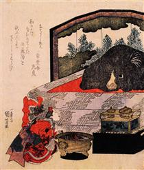 Cortigiana in addestramento - Utagawa Kuniyoshi
