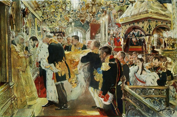 Coronation of the Emperor Nicholas II in The Uspensky Cathedral, 1896 - Valentin Serov