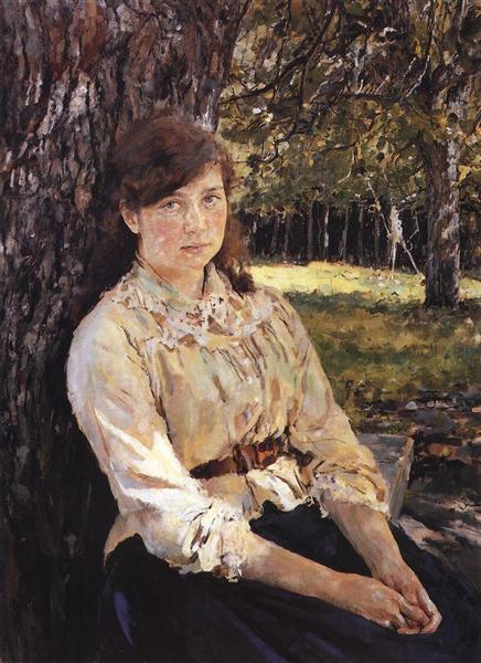 Girl in the Sunlight (Portrait of M. Simonovich), 1888 - Valentin Serov