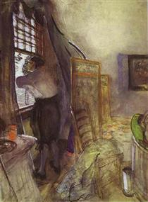 Peter I in the Palace of Monplaisir. Unfinished - Valentin Serov
