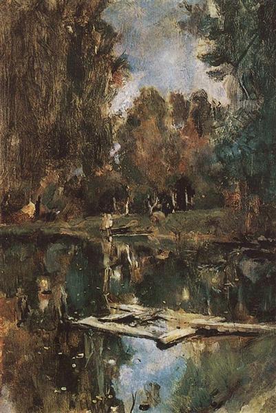 Pond in Abramtsevo, 1886 - Valentin Serov