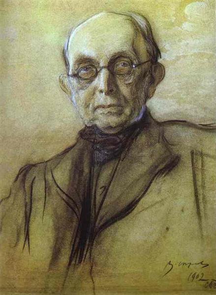 Portrait of K. Pobedonostsev, 1902 - Valentin Serov