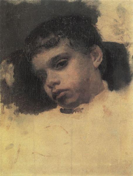 Portrait of Kolya (Nikolay) Simonovich, 1880 - Valentin Serov