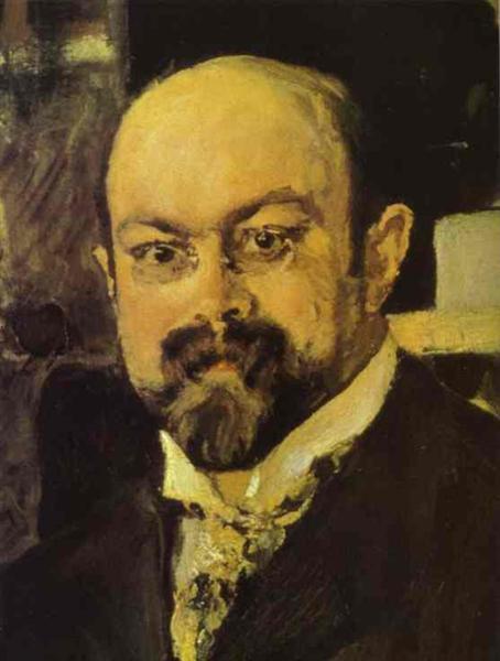 Portrait of Mikhail Abramovich Morozov (detail), 1902 - Valentin Serov
