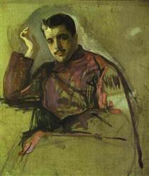Portrait of Sergei Diaghilev - Valentin Serov