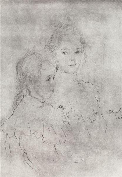 Portrait of the daughter of S. Botkin, 1900 - Valentin Serov