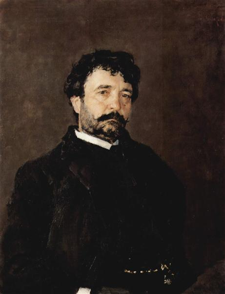 Portrait of the Singer Angelo Mazini, 1890 - Valentin Serov