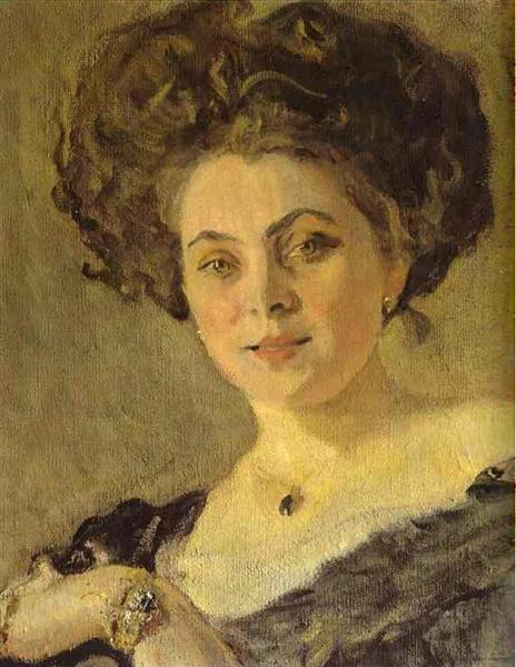 Portrait of Yevdokia Morozova (detail), 1908 - Валентин Сєров