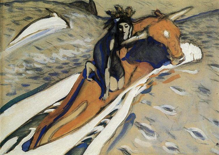 The Rape of Europa - Valentin Serov