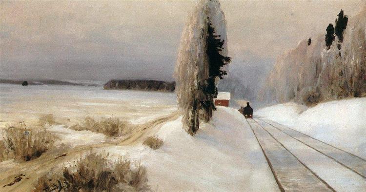Railway near Tarusa station, 1903 - Vasily Polenov