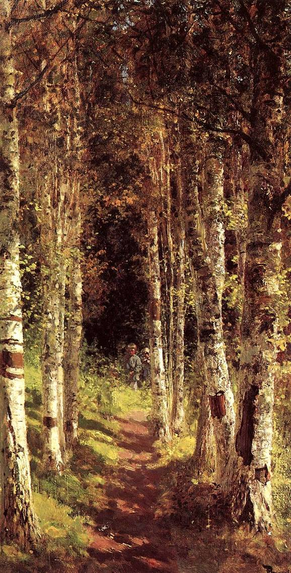 The birchwood alley vasily polenov The birchwood
