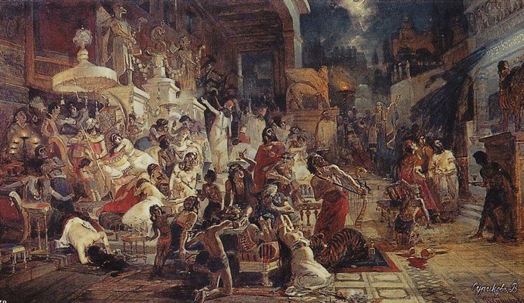 Belshazzar's Feast, 1874 - Vasily Surikov